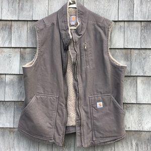 Carhartt Sherpa lined vest gray/purple XXL